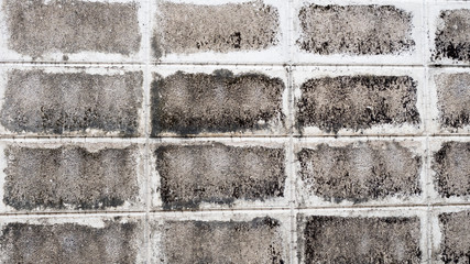 Wall Mural - grey old brick wall cement background