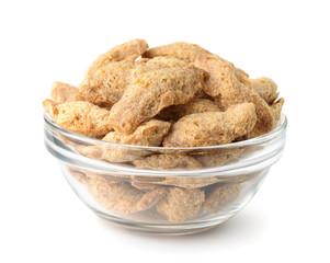 Bowl of soya chunks