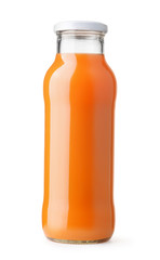 Front view of carrot juice bottle