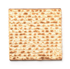Top view of flatbread matzo