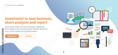 Investment in new business, chart analysis and report  Calculations