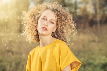 golden colors in portrait