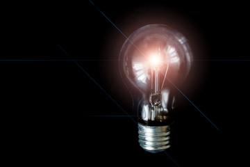 light bulb on gray background, creative ideas, concept inspiration