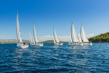 Sailing yachts regatta competition