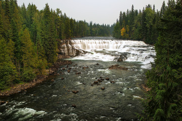 Dawson Falls on the Murtle River in Wells Gray Provincial Park, British Columbia, Canada