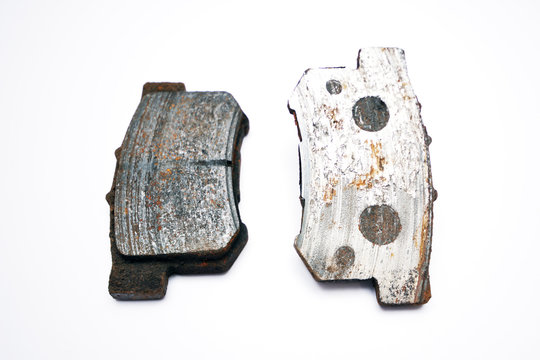 Very worn out brake pads threatening road safety