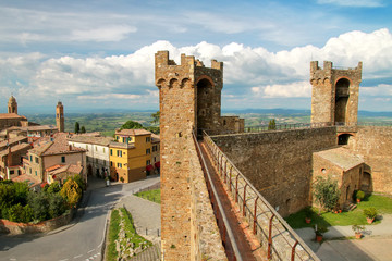 Medieval Montalcino Fortress in Val d'Orcia, Tuscany, Italy
