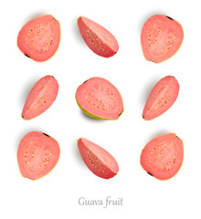 Wall Mural - Seamless pattern with guava