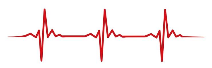 red heartbeat #isoliert #vektor - Herzschlag