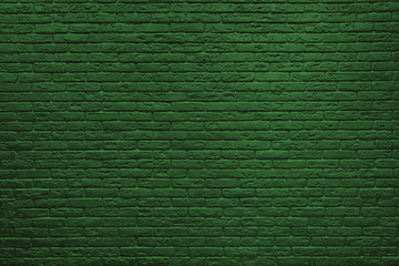 St Patricks Day green brick wall background.