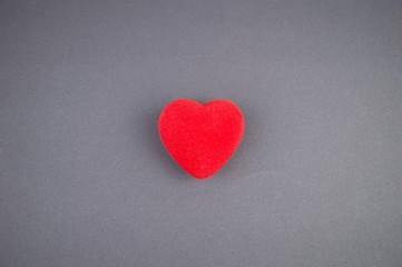 Heart on a gray background, there is free space to fill