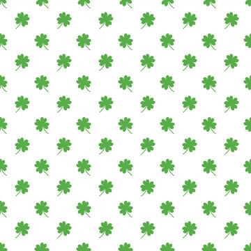 St Patrick's Day Seamless Pattern - Green pattern design for St Patrick's Day
