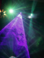 spotlight in the nightclub.photo with copy space