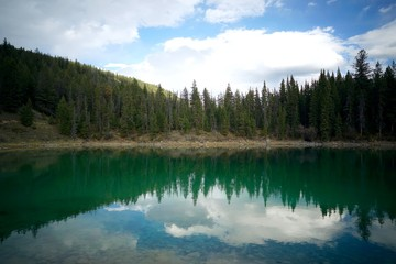 Lake Reflection in Jasper National Park