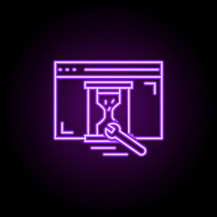 under construction icon. Elements of Web development in neon style icons. Simple icon for websites, web design, mobile app, info graphics