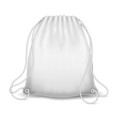 White sport bag