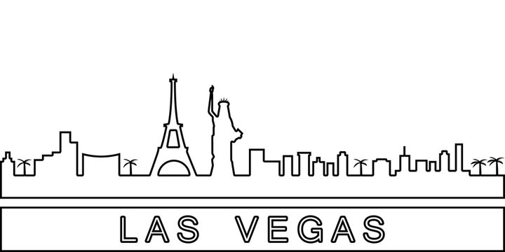 Las Vegas detailed skyline icon. Element of Cities for mobile concept and web apps icon. Thin line icon for website design and development, app development