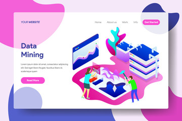 Landing page template of Data Mining