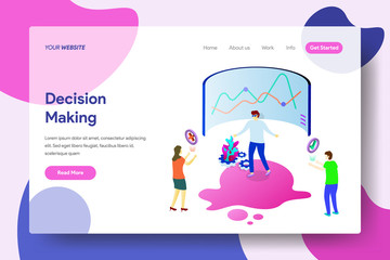 Landing page template of Decision Making