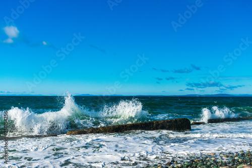 Waves Crashing on Beach | Whidbey Island, Washington