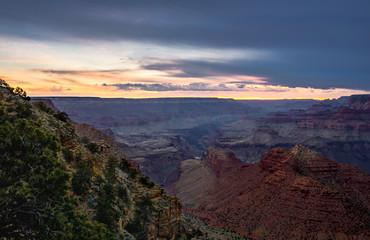 Grand Canyon Sunset Purple Mountains