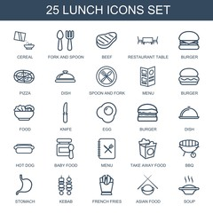 25 lunch icons