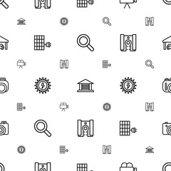 detail icons pattern seamless white background