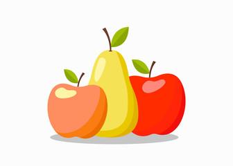 Fruits Color Vector Illustration