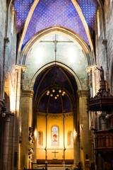 Collegiale Church, interior - Neuchatel, Switzerland