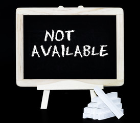 Not available blackboard