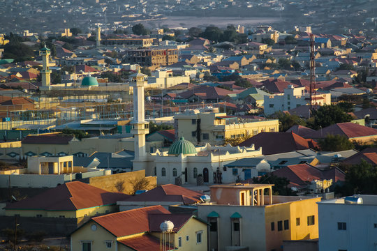 Aerial view to Hargeisa, biggest city of Somaliland Somalia