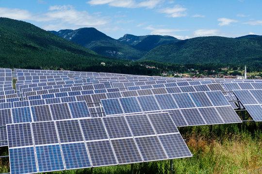 Asiago, Italy Veneto region. Solar panels.