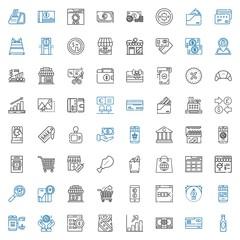 commerce icons set