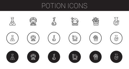 potion icons set