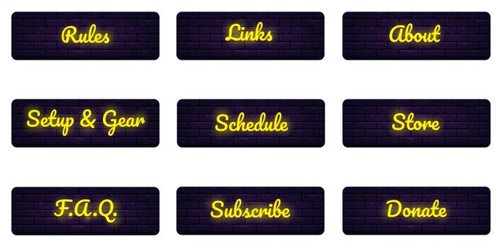 Description categories buttons