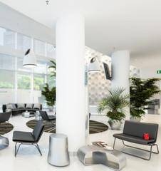 Contemporary Waiting Lounge (detail) - 3d visualisation