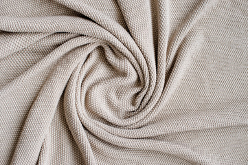 Gray blanket made of natural cotton.