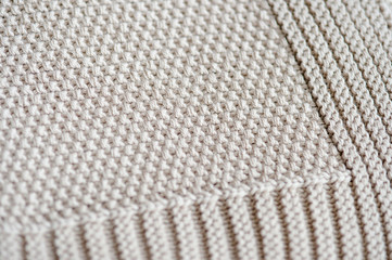 Light Gray elegant blanket with an interesting encase close-up