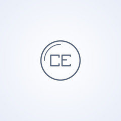 Clean entry, vector best gray line icon
