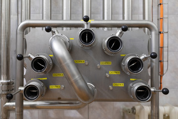 Chrome system with levers in industrial plant