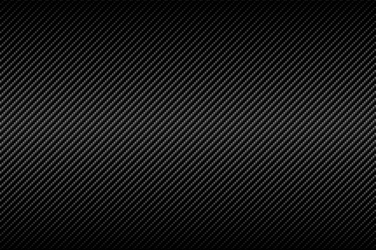 Carbon fiber texture with linear gradient background. Vector illustration