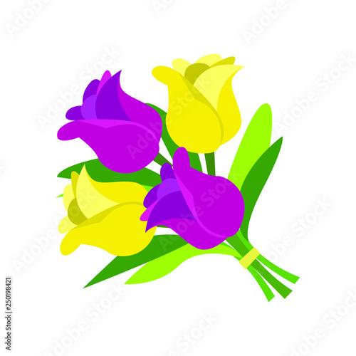 Bouquet of flowers emoji vector