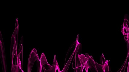 Abstract plasma pattern  on a black background