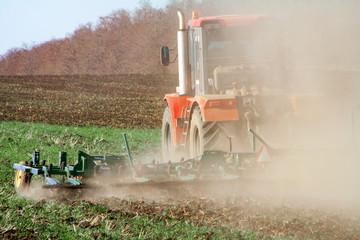 Agriculture,tractor preparing land