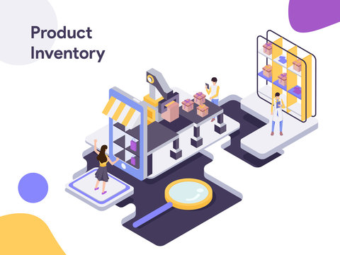 Product Inventory Isometric Illustration. Modern flat design style for website and mobile website.Vector illustration