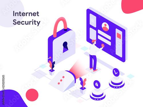 Internet Security Discount Isometric Illustration  Modern