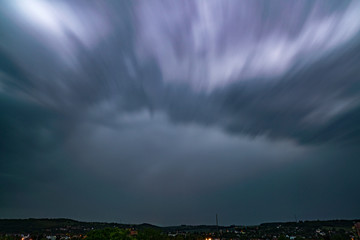 Dark Clouds on sky with motion blur effect