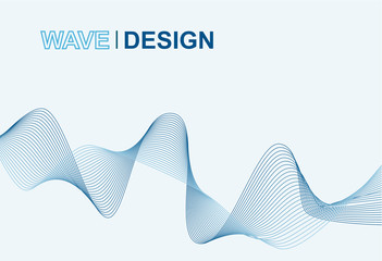 vector of abstract gradient blue wave design background