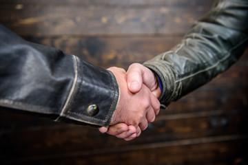 Partnership and business deal. Successful deal handshake. Handshake approving sign. Agreement compromise arrangement. Shaking hands close up. Handshake friendly gesture. Handshake gesture concept