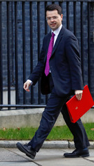 Britain's Secretary of State for Housing James Brokenshire is seen outside of Downing Street in London